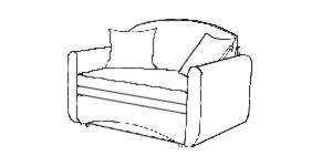 обивка двойных диванов